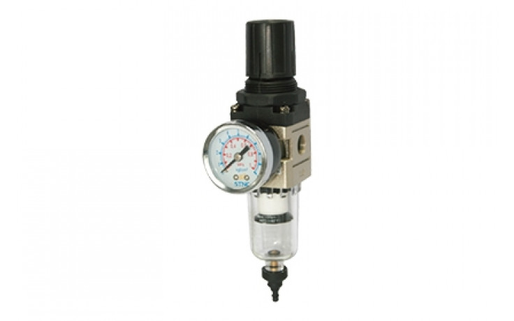 Air filter regulator with Option for 2nd Take Off and Pressure Gauge